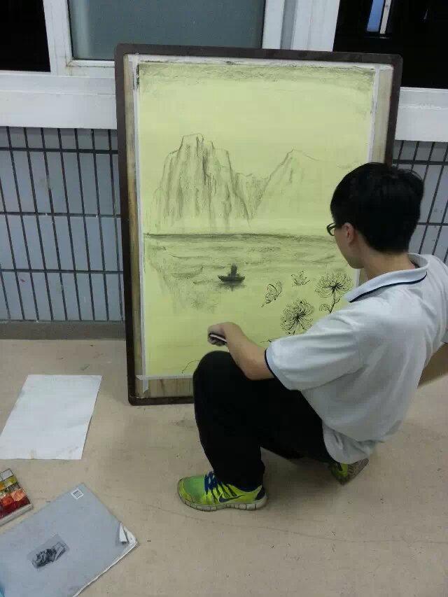 大榕树美术社日常活动——重阳节海报制作